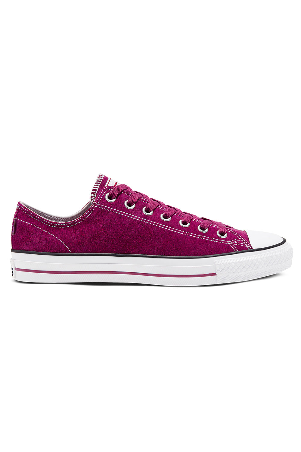 Converse CONS CTAS Pro Low (Suede) - Rose Maroon/White