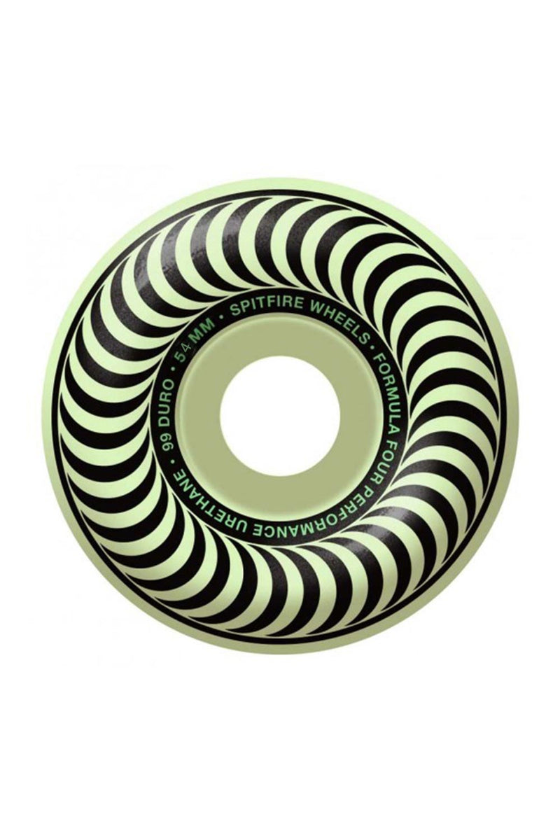 Spitfire Formula Four 99D Classic Stay-Lit Glow Wheels - 52mm