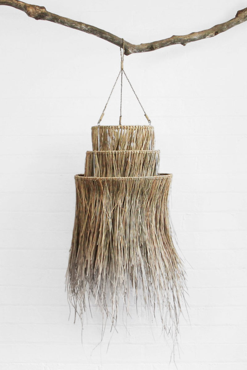 Sanbasics Seagrass Tiered Fringe Lamp