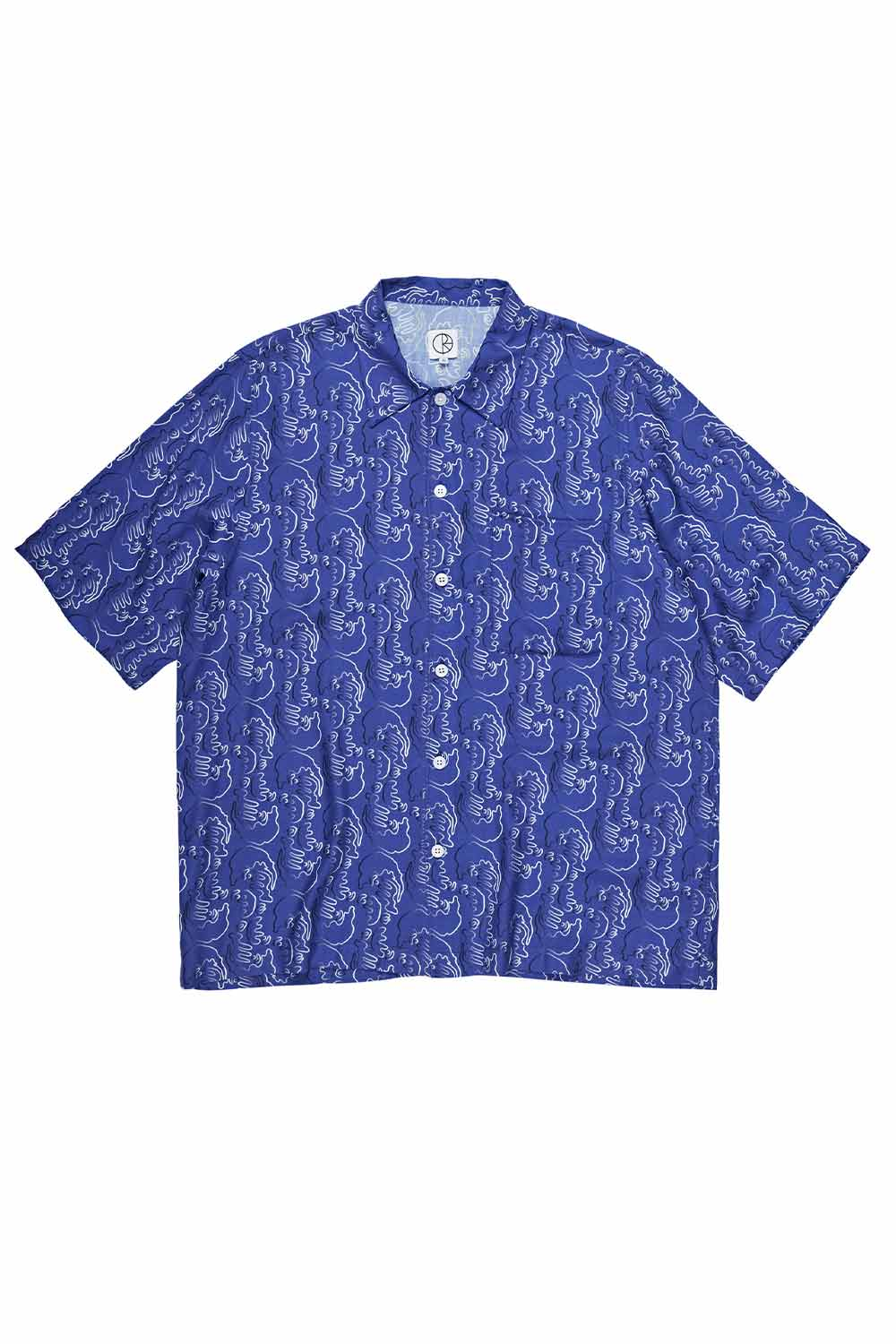 Polar Skate Co Art Shirt Faces - Blue | Buy Polar Skate Co Online