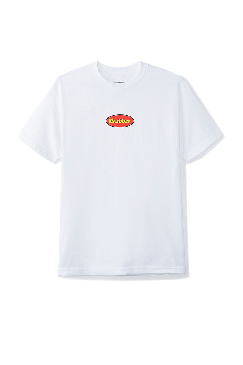 Butter Goods Badge Logo Tee - White | Butter Goods Clothing Online
