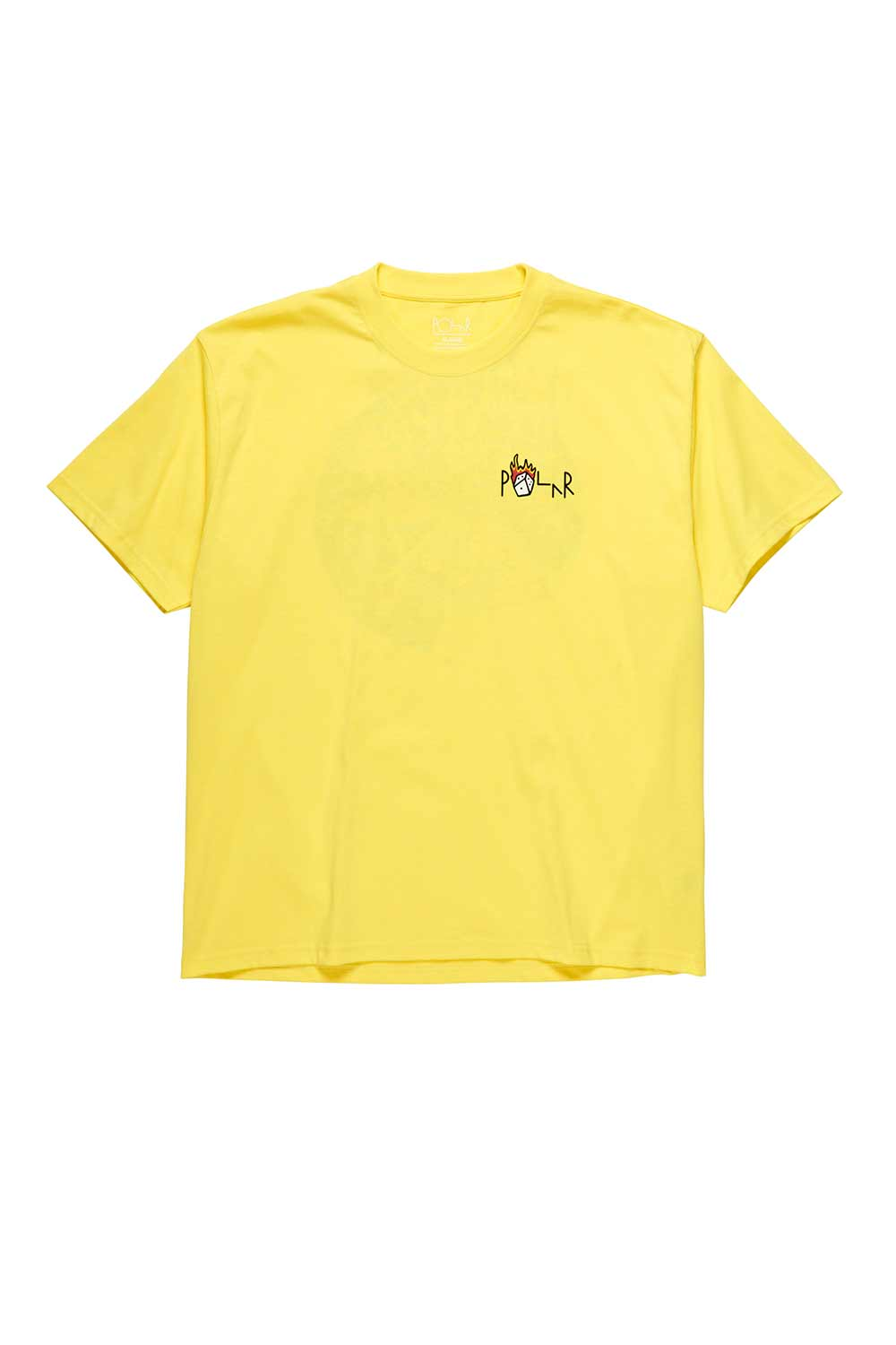 Polar Skate Co Castle Fill Logo Tee - Yellow