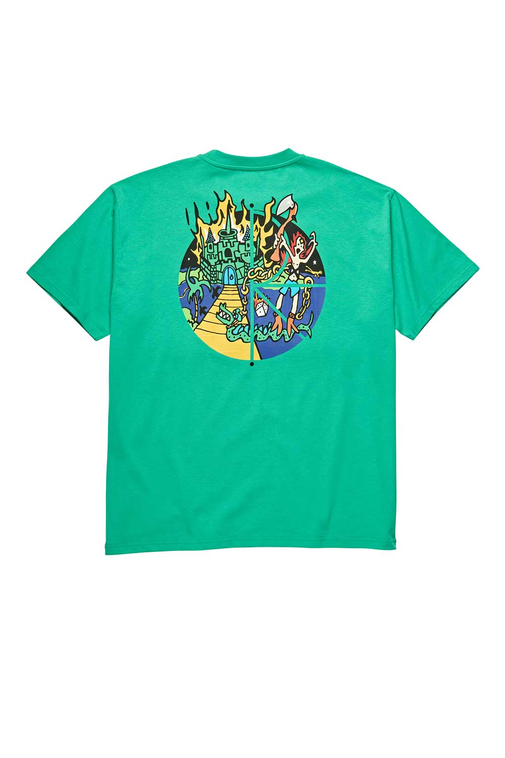 Polar Skate Co Castle Fill Logo Tee - Green | Polar Skate Co Online