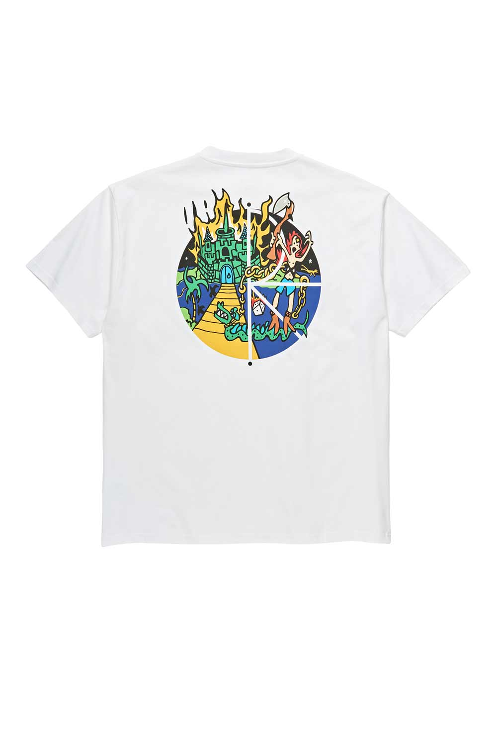 Polar Skate Co Castle Fill Logo Tee - White | Polar Skate Co Online