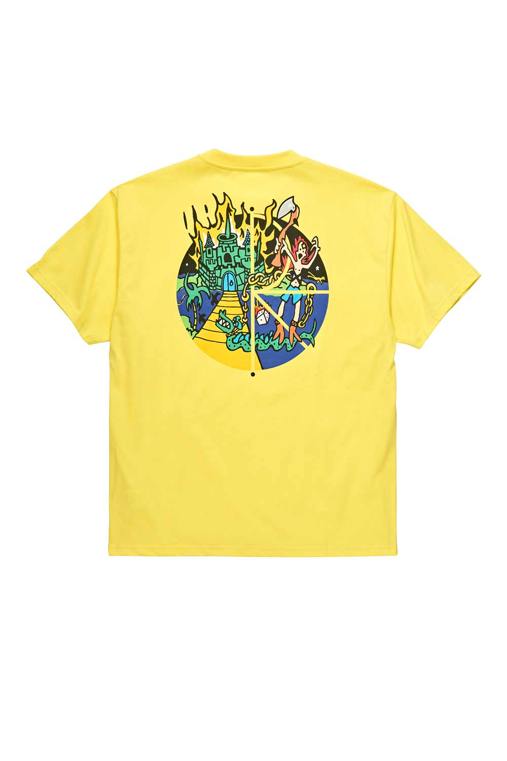 Polar Skate Co Castle Fill Logo Tee - Yellow | Polar Skate Co Online