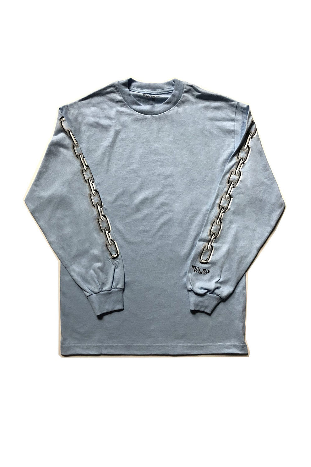 Hotel Blue Chains L/S Tee - Slate | Hotel Blue NYC Clothing Online