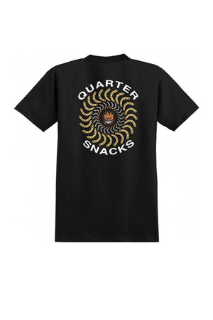 Spitfire X Quartersnacks Classic Chain T-Shirt - Black