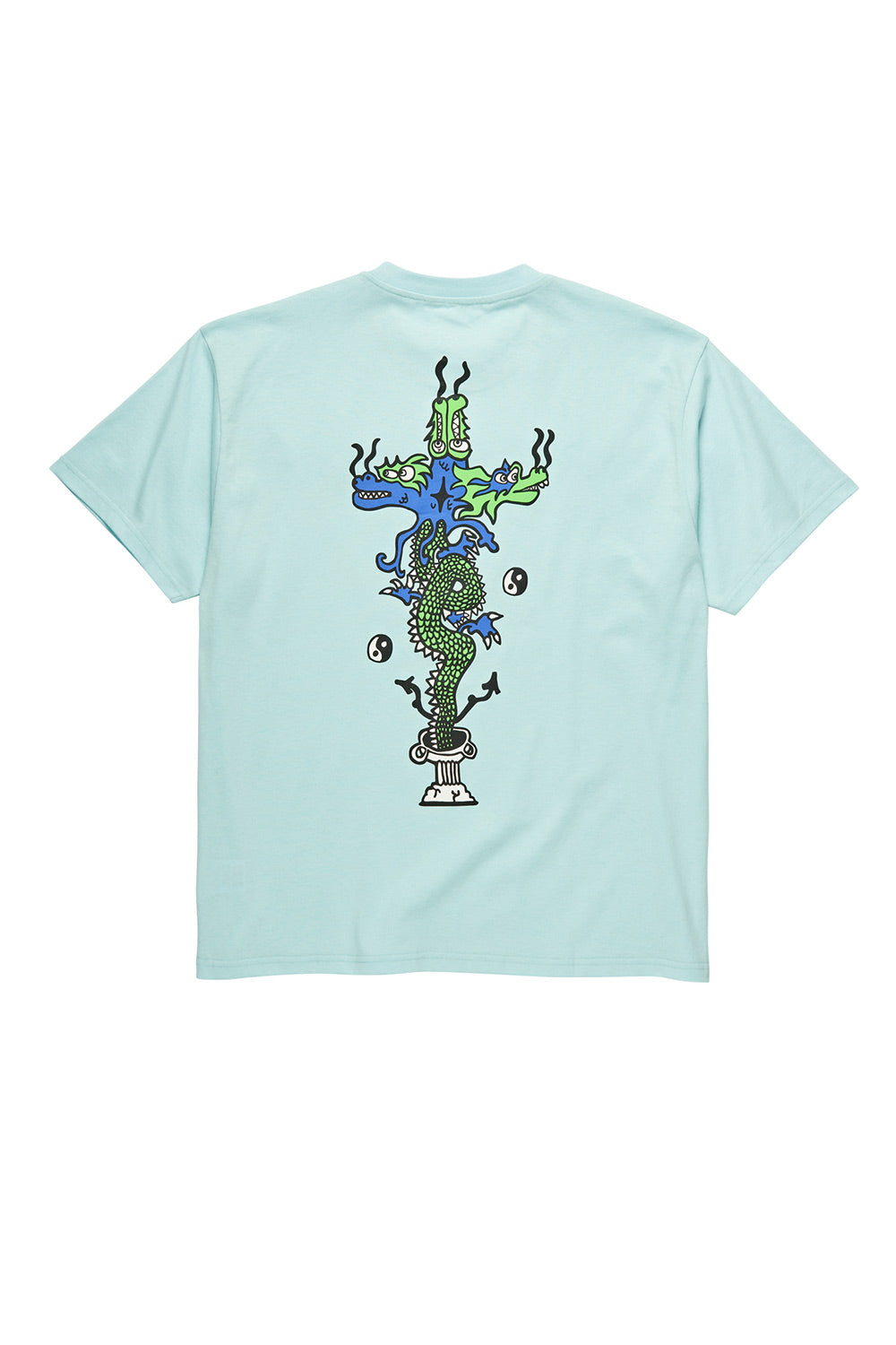 Polar Skate Co Dragon Tee - Aquamarine | Polar Skate Co Online