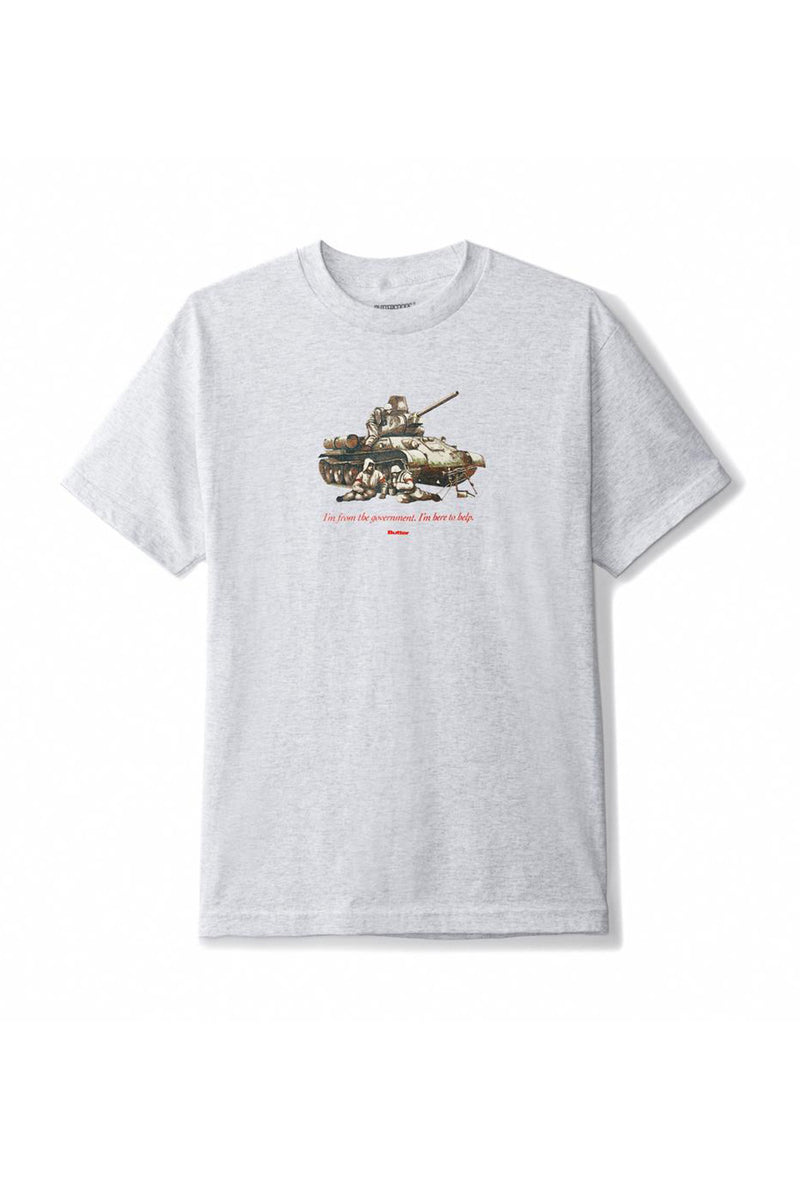 Butter Goods Here To Help Tee - Ash Grey