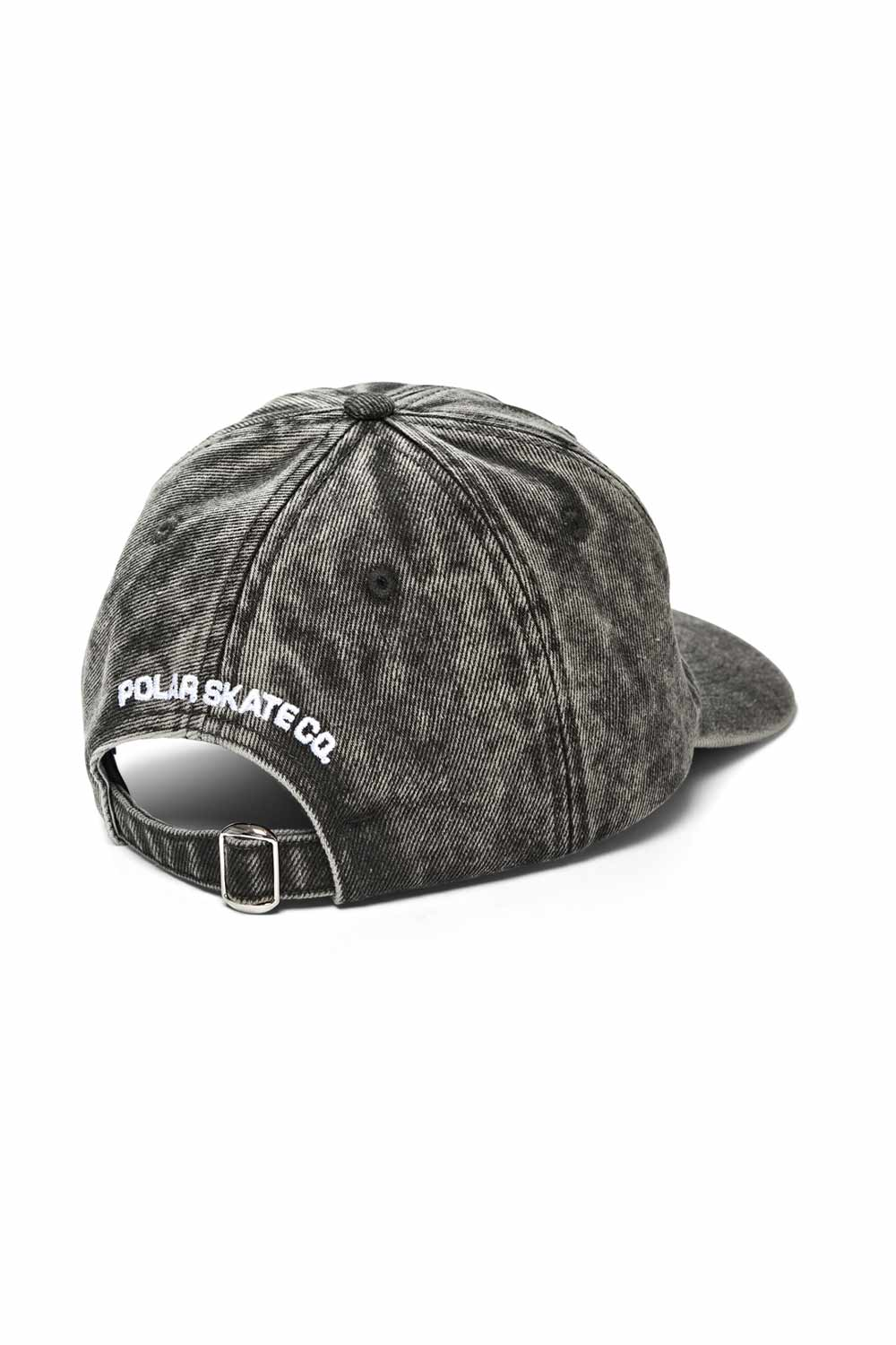 Polar Skate Co Denim Cap - Black Acid