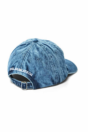 Polar Skate Co Denim Cap - Blue Acid