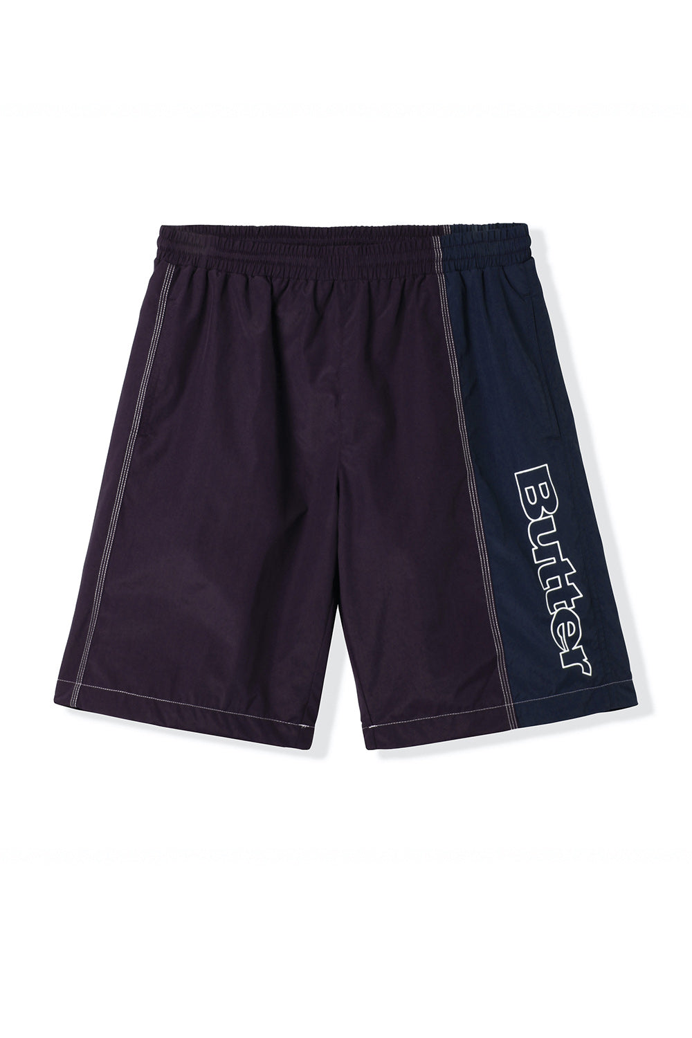 Butter Goods Quarter Nylon Shorts - Eggplant/Navy