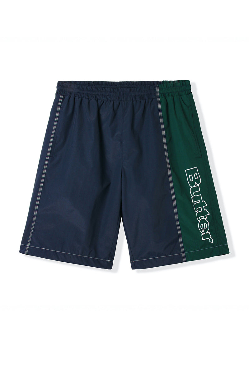 Butter Goods Quarter Nylon Shorts - Navy/Forest Green | Butter Goods