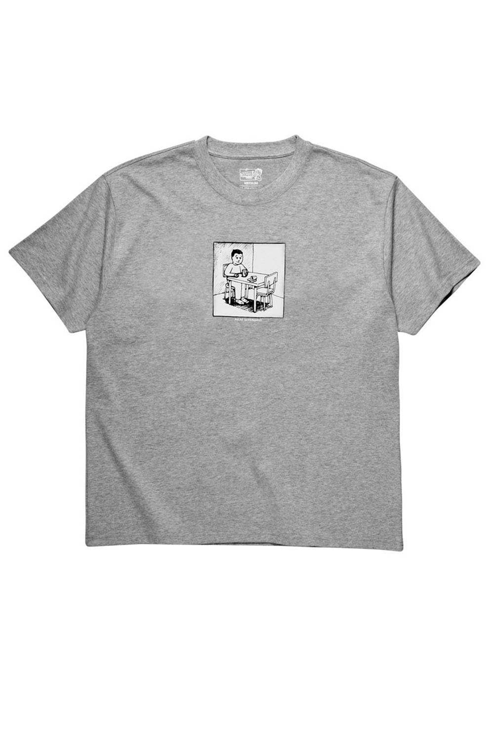 Polar Skate Co Spilled Milk Tee - Heather Grey | Shop Polar Skate Co Online