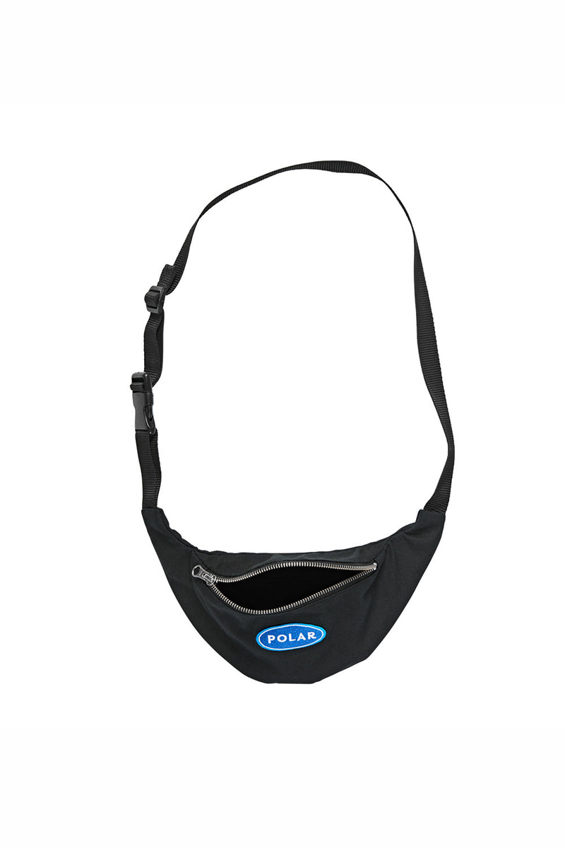 Polar Skate Co Station Logo Hip Bag - Black | Buy Polar Skate Co Online