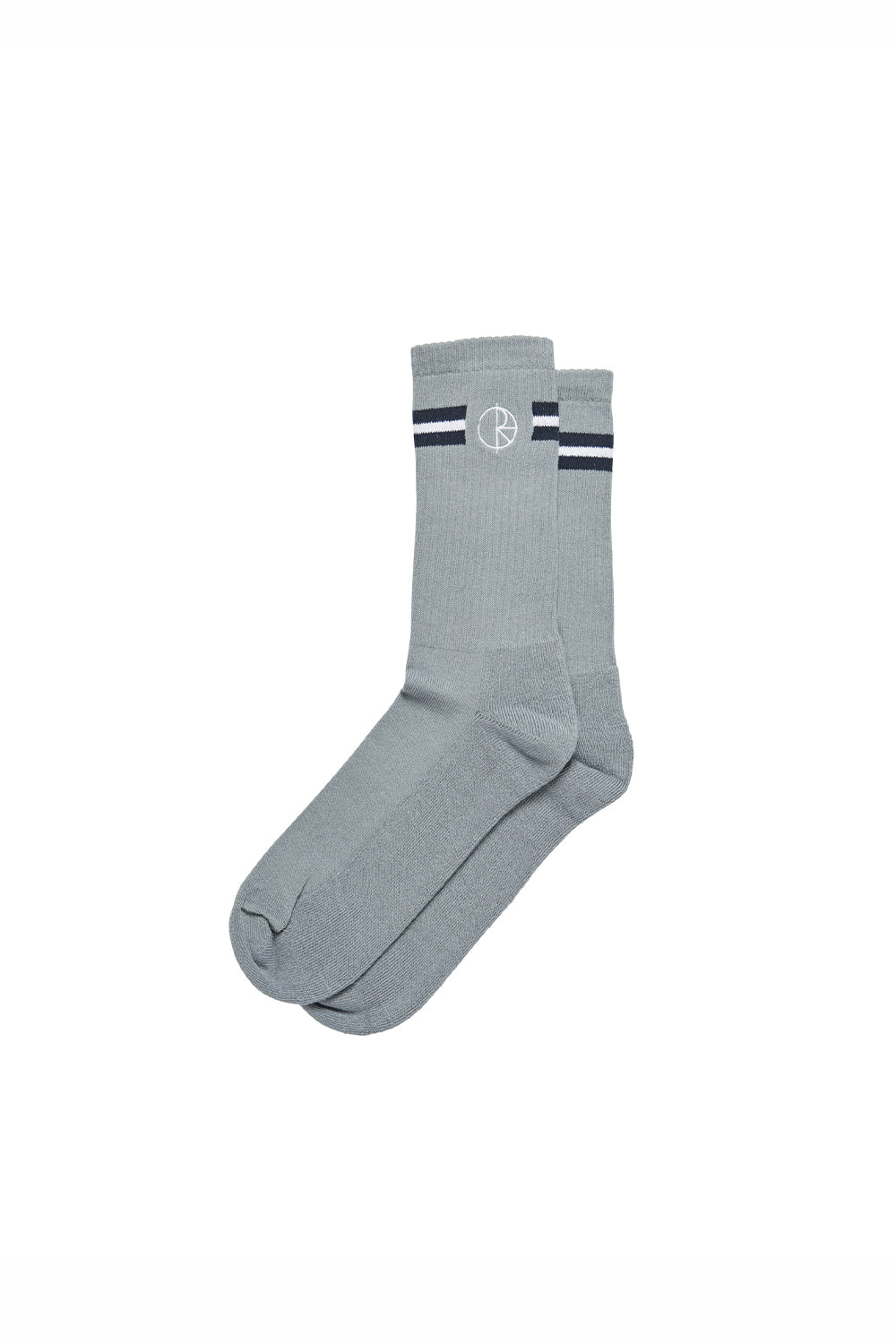 Polar Skate Co Stroke Logo Socks - Grey/Blue/White | Buy Polar Skate Co Online