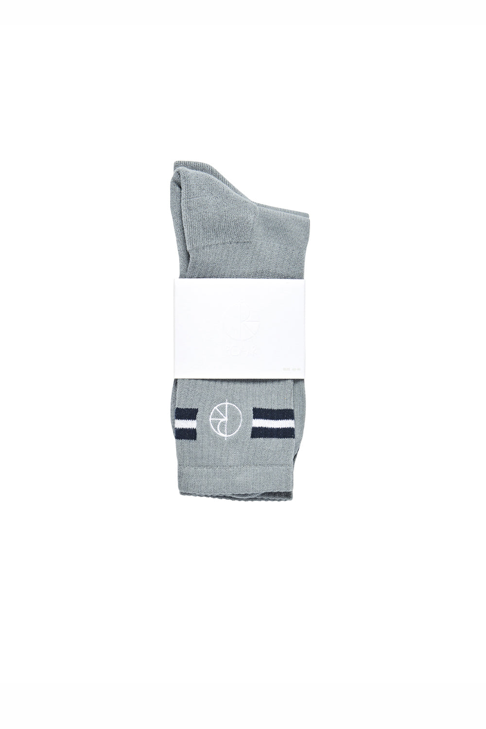 Polar Skate Co Stroke Logo Socks - Grey/Blue/White