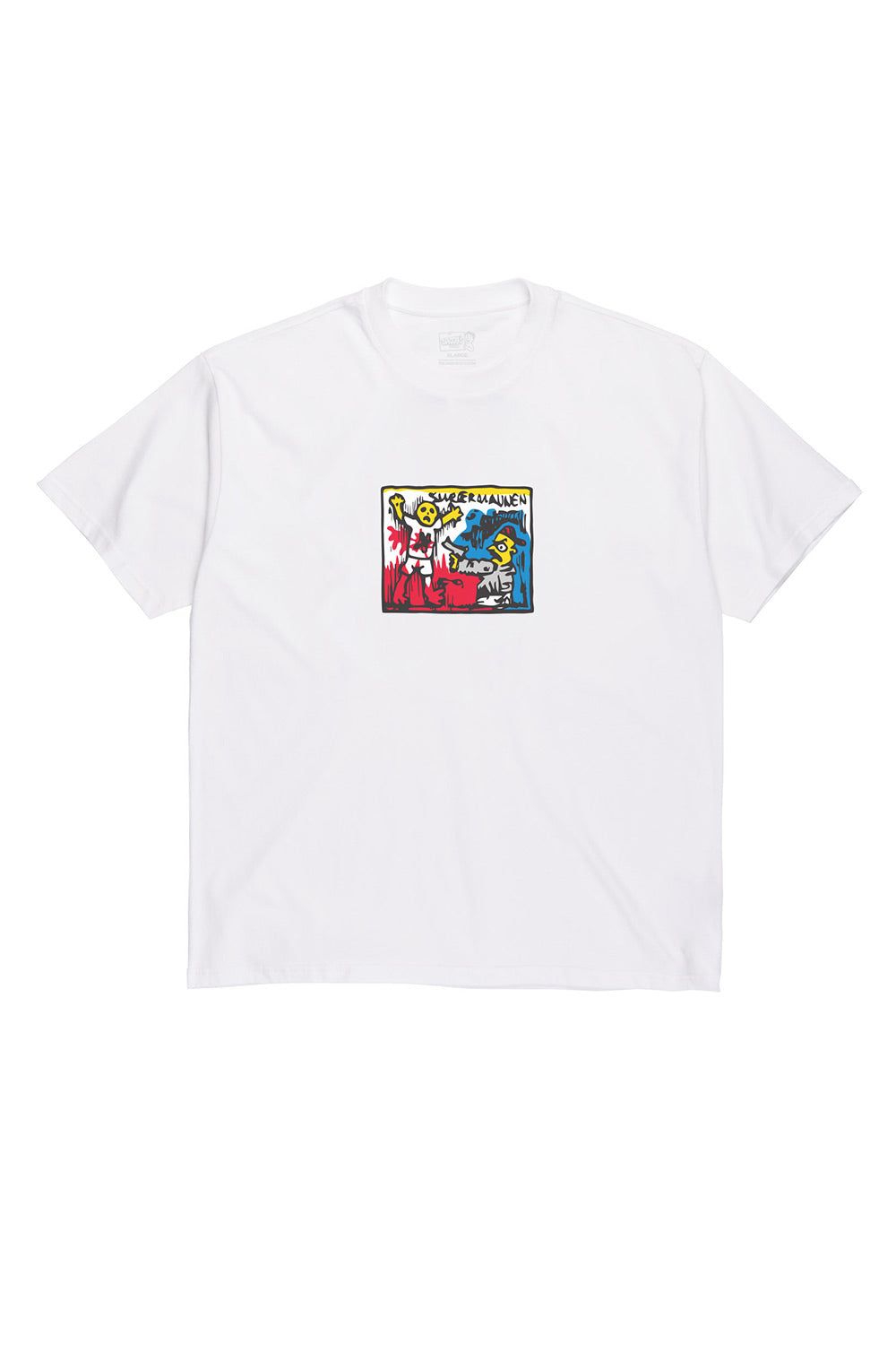 Polar Skate Co Supermannen Tee - White | Buy Polar Skate Co Online