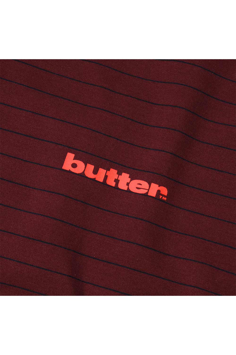 Butter Goods Tide Stripe Tee - Red