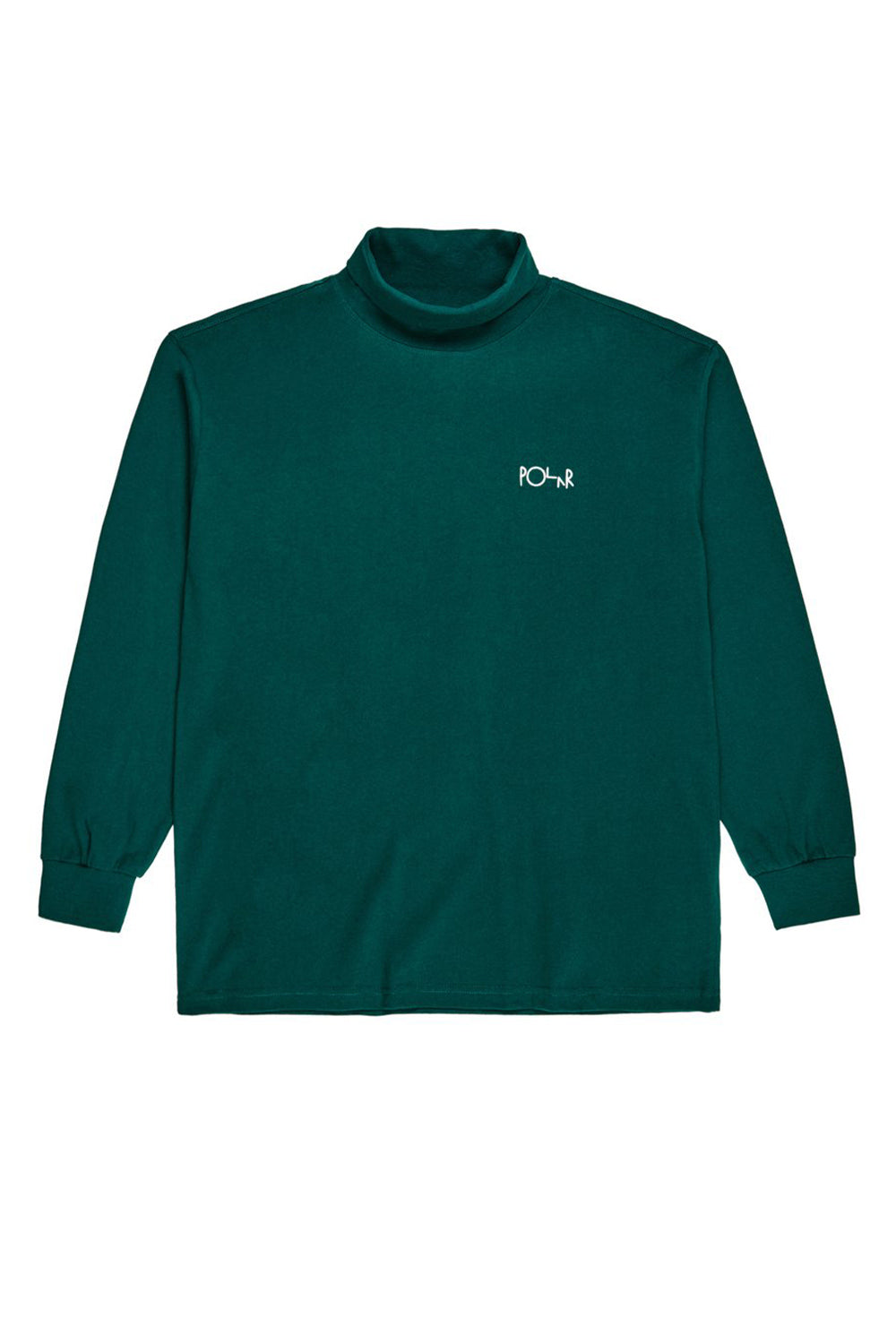 Polar Skate Co Script Turtleneck - Dark Green | Shop Polar Skate Co online