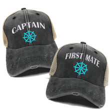 Load image into Gallery viewer, fun-trucker-hats - Captain First Mate - Trucker Hat