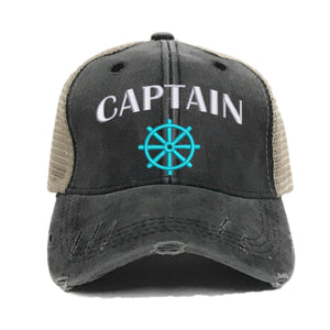 fun-trucker-hats - Captain First Mate - Trucker Hat