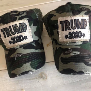 Trump 2020 Camo Trucker Hats - Keep America Great - Trump Election Merchandise