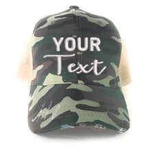 Load image into Gallery viewer, Custom Camo Hat