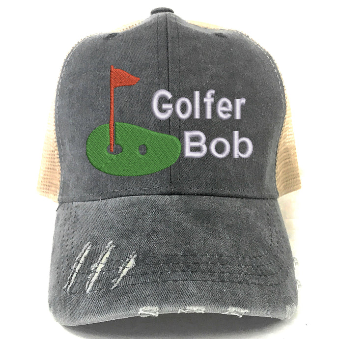 Golfer Hat Personalized