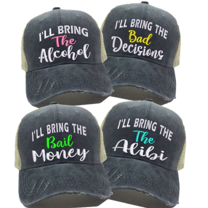 fun-trucker-hats - I'll Bring The Alcohol Hat Set -