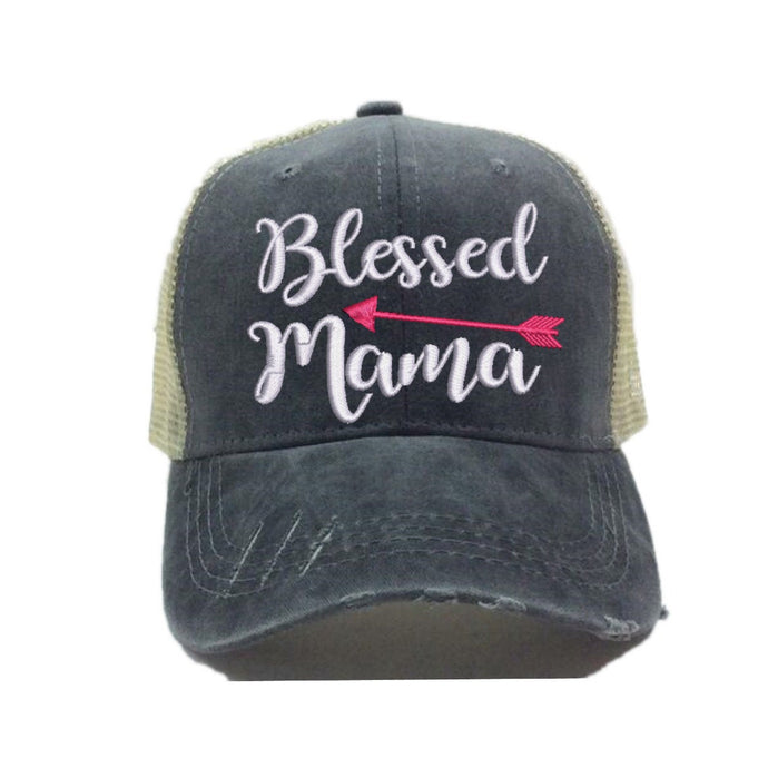 fun-trucker-hats - Blessed Mama -