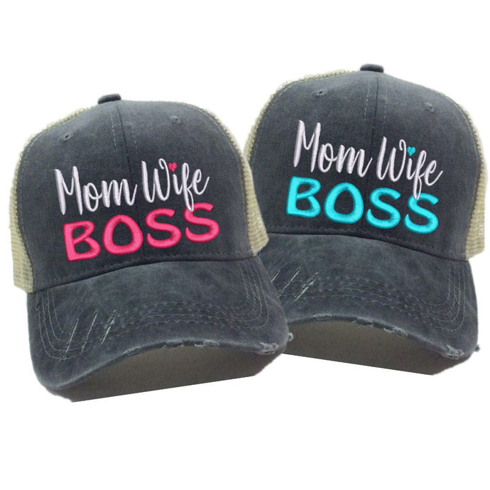 fun-trucker-hats - Mom Wife Boss -