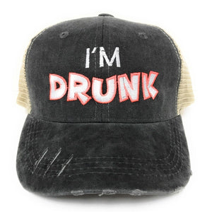 fun-trucker-hats - I'm Drunk -
