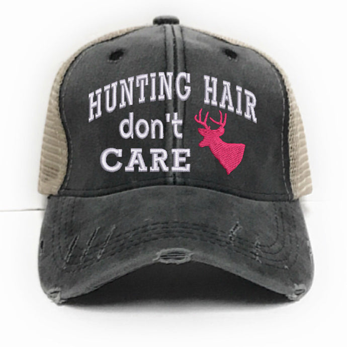 fun-trucker-hats - Hunting Hair Don't Care -