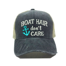 Load image into Gallery viewer, fun-trucker-hats - Boat Hair Don't Care - Trucker Hat