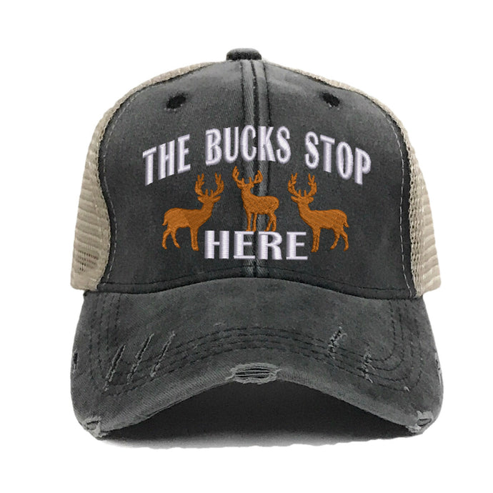 fun-trucker-hats - The Bucks Stop Here Deer -
