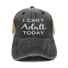 Load image into Gallery viewer, fun-trucker-hats - I Can't Adult Today - Trucker Hat