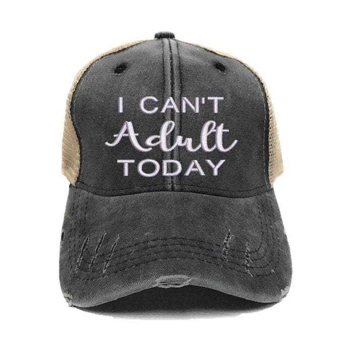 fun-trucker-hats - I Can't Adult Today - Trucker Hat