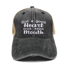 Load image into Gallery viewer, fun-trucker-hats - Good Heart But This Mouth -