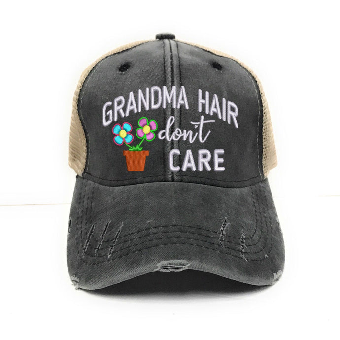 fun-trucker-hats - Grandma Hair Don't Care -