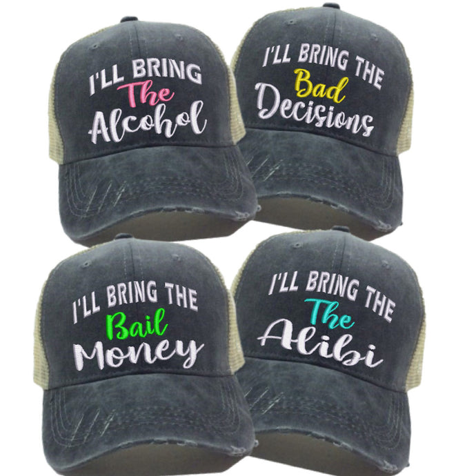 fun-trucker-hats - I'll Bring The Alcohol Hat -
