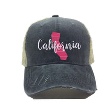 Load image into Gallery viewer, fun-trucker-hats - California State -