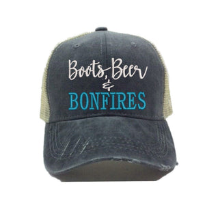 fun-trucker-hats - Boots Beer Bonfires -