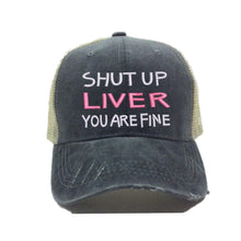 Load image into Gallery viewer, fun-trucker-hats - Shut Up Liver -