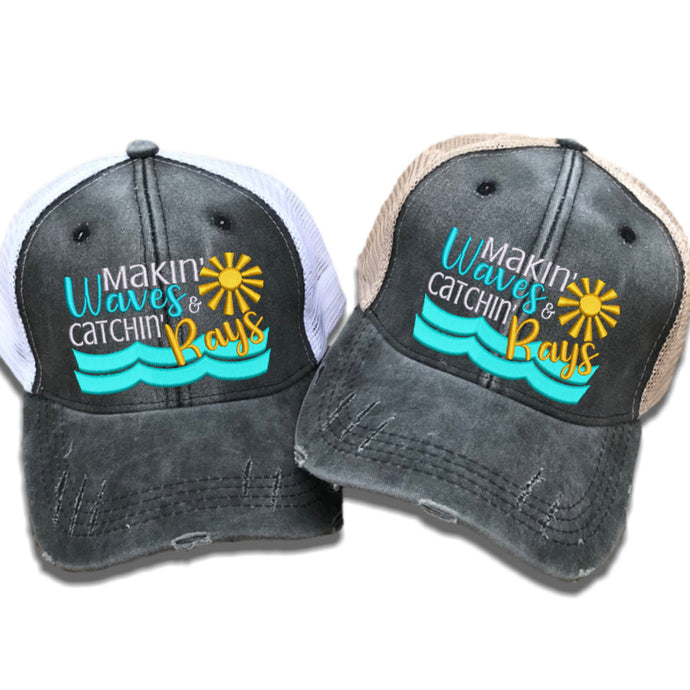 fun-trucker-hats - Makin' Waves Catchin' Rays -