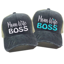 Load image into Gallery viewer, fun-trucker-hats - Mom Wife Boss -