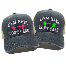 Load image into Gallery viewer, fun-trucker-hats - Gym Hair Don't Care -