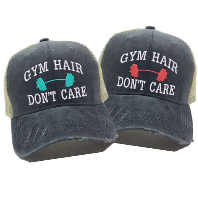 fun-trucker-hats - Gym Hair Don't Care -