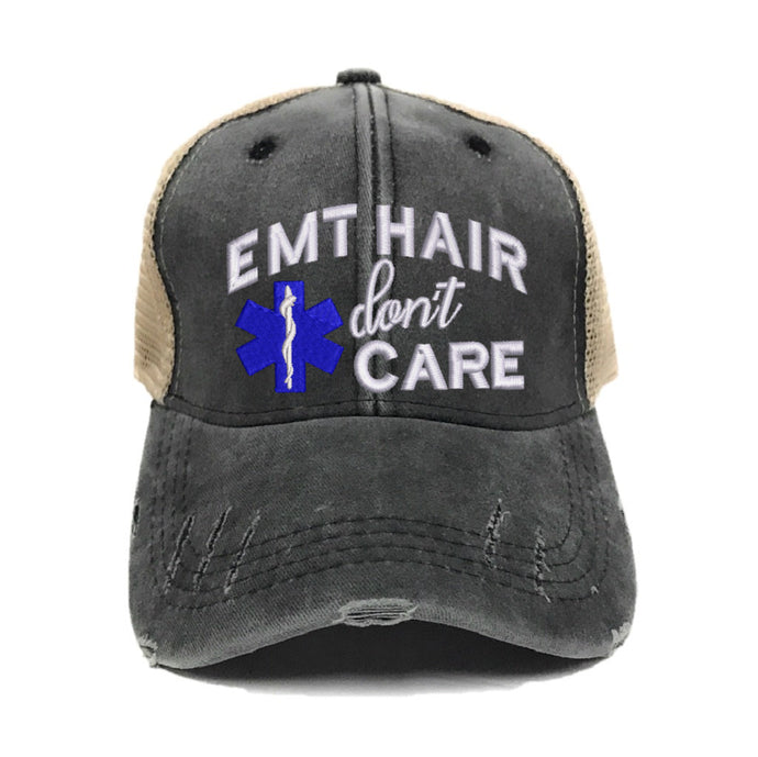 fun-trucker-hats - EMT Hair Don't Care -