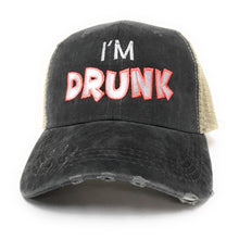 Load image into Gallery viewer, fun-trucker-hats - I'm Drunk -